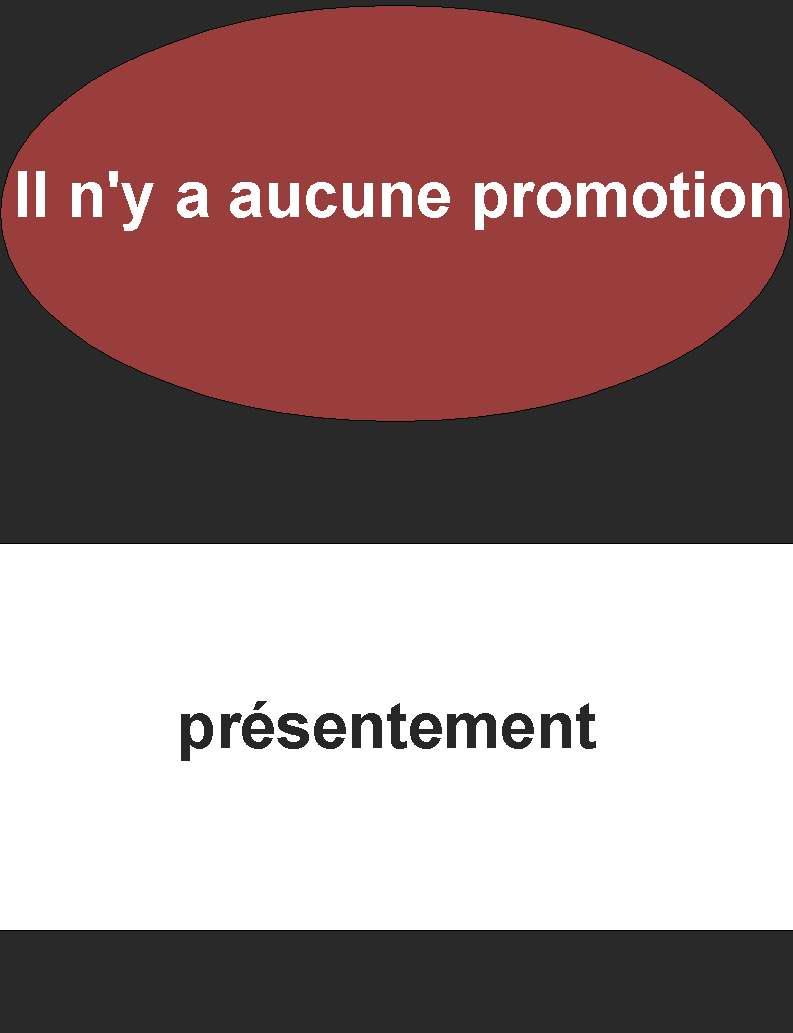 Pas de promo