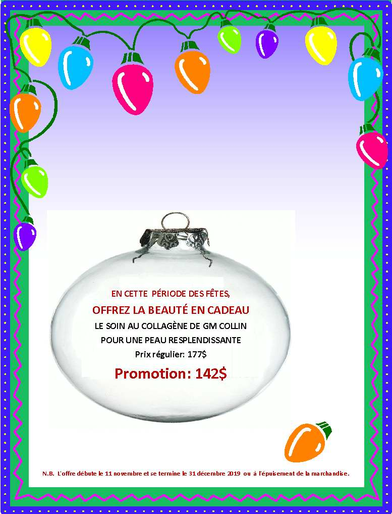 Promotion Soin Collagène Fêtes 2019